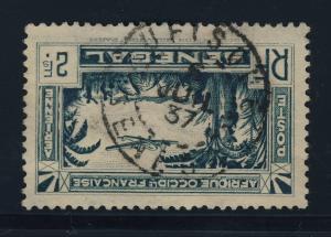SENEGAL - 1937 - CAD DE RUFISQUE SUR Yv.PA5 2fr BLEU POST AÉRIENNE
