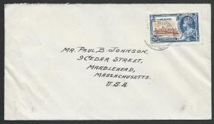 ST LUCIA 1935 cover to USA, Jubilee 2½d, Castries cds......................53115