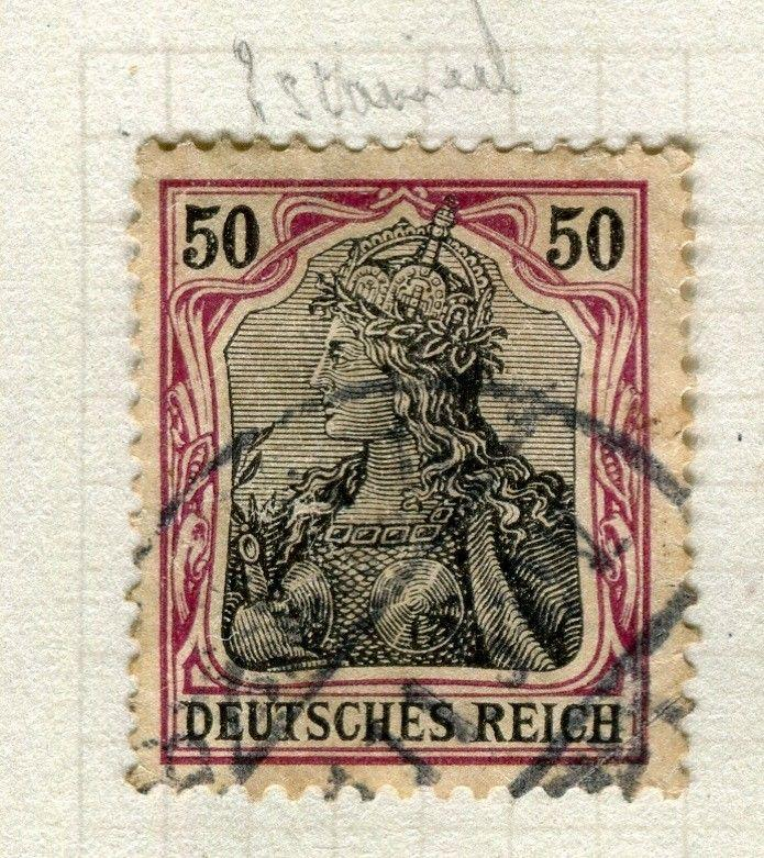 GERMANY; 1905 early Deutsches Reich issue fine used 50pf. value, Shade