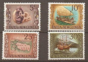 PAPUA NEW GUINEA SG169/72 1970 NATIONAL HERITAGE MNH
