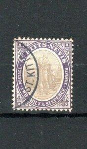 St Kitts-Nevis 1903 2s 6d Christopher Columbus FU CDS