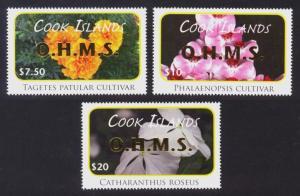 Cook Islands Sc# O85-7 MNH Indigenous Flowers Officials