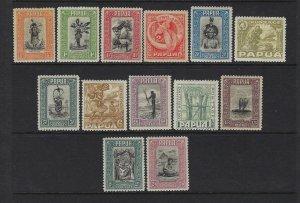 PAPUA SCOTT #94-106 1932 SHORT SET- MINT SOME HINGE REMNANTS-SOME LH
