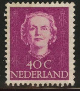 Netherlands Scott 315 Mint No Gum  1949 Queen Juliana 40c