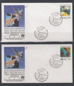 UN Geneva 176-177 UN Postal Administration U/A Set of Two FDC