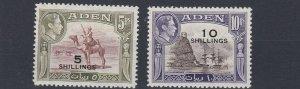 ADEN  1951     S G  45 & 46  5S & 10S VALUES       MH