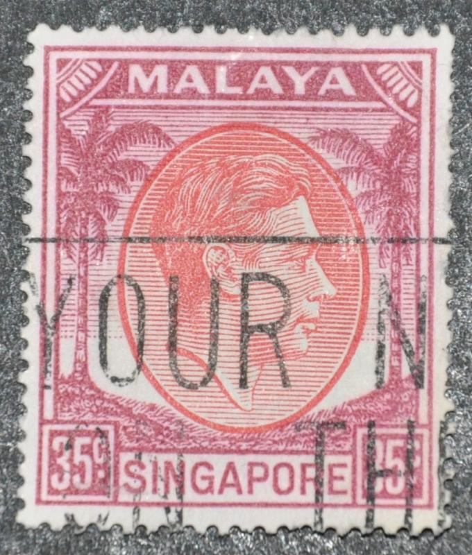 DYNAMITE Stamps: Singapore Scott #15 – USED