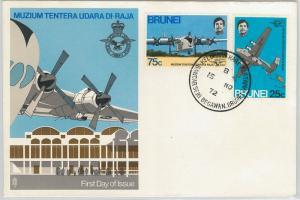 61266  - BRUNEI - POSTAL HISTORY - FDC COVER   SG # 200/01 1972 - AVIATION RAF