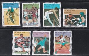 Nicaragua Barcelona Summer Olympics, CTO, 1990 issue, Not Listed