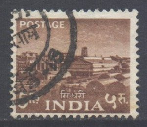 India Scott 270 - SG370, 1955 Five Year Plan 5r used