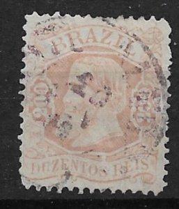 1882 Brazil 84  Emperor Dom Pedro 200r used