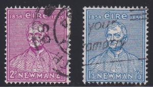 Ireland # 153-154, Cardinal Newman, Used, 1/2 Cat