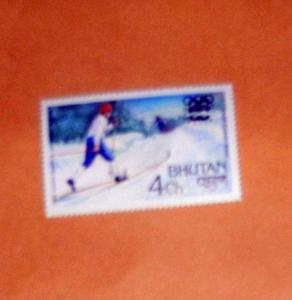 Bhutan - 215, MNH...Cross Country Skiing