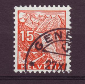 J12658 JLstamps 1934 switzerland from a set used #222 rhone glacier