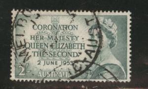 AUSTRALIA Scott 261 used QE2 1953 stamp