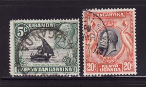 Kenya, Uganda, Tanzania 47, 50 U King George V (C)