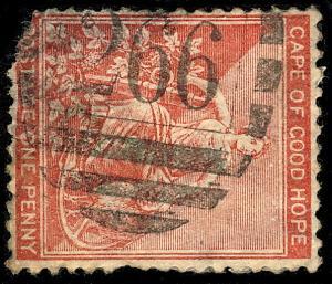 SOUTH AFRICA / C.G.H. - Rare BONC 266  SCHOONGEZICHT  on SG49 1d (damaged)
