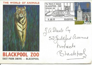 The World Of Animals Blackpool Zoo Opening Day 1972 Commemorative Cover U3143