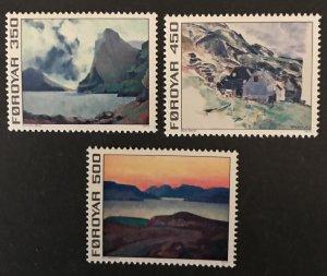 Faroe Islands 1975 #18-20 MNH CV $2.60, 19 has bends