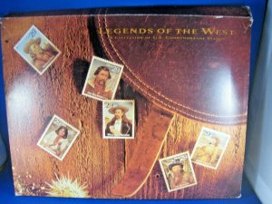 UNITED STATES 1994  -  LEGENDS OF THE WEST MINT SET       (st8)