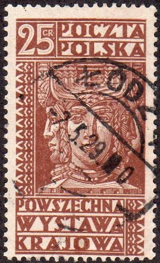 Poland 260- Used - 25g Ancient Slav god (1928) (cv $0.60)