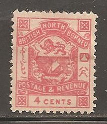North Borneo  SC 39 Mint  Hinged