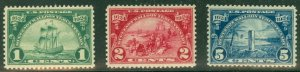 US #614-16 Huguenot-Walloon complete set, og, NH, VF, Scott $38.75
