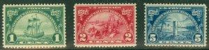 US #614-16 Huguenot-Walloon complete set, og, NH, VF, Scott $38.75