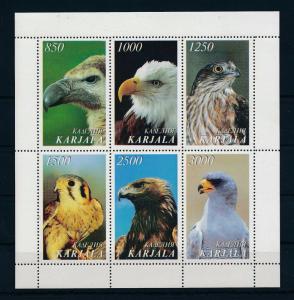 [34334] Private Issue Karjala  Birds Vögel Oiseaux Ucelli   MNH Sheet