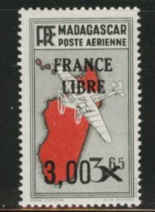 Madagascar Malagasy Scott C35 MH*  1942 airmail