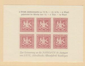 Germany - NAPOSTA 1981 Souvenir Sheet MNH