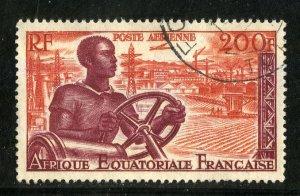 FRENCH EQUATORIAL AFRICA C41 USED SCV $2.50 NIM $1.00 FARMING