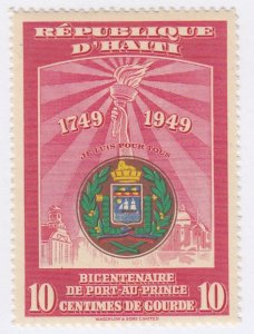 Haiti, Sc 384, MVLH, 1950, Arms of Port-au Prince