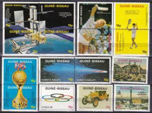 Guinea-Bissau #688a-688P MNH CV $100.00