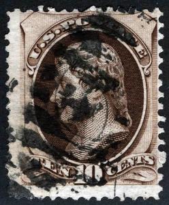 US Sc 188 Used 10¢ ABNCo Printing w/Secretmark