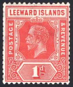Leeward Is 1932 1d Scarlet DIE I Wmk Script SG 83 Scott 63a LMM/MLH Cat£45($60)