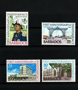 BARBADOS - 1967 - INDEPENDENCE - 1st ANNIV - ARCH - PARLIAMENT+ MINT MNH SET!