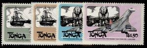 TONGA QEII SG824-837, 1983 sea, air & transport set, NH MINT. Cat £15.