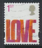 GB SG 2693 SC# 2427 Used Smilers Booklet 2007 -  Love - see details