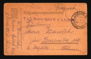 Austria 1917 Feldpost Card / Ljubljana CDS - Z16514