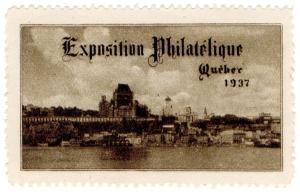 (I.B) Canada Cinderella : Philatelic Exhibition (Quebec 1937)