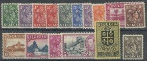 St. Lucia 110-7, 119-26 * mint hinged cv $50 (2107 137)