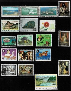 Small Group Of Used Stamps Of North Korea
