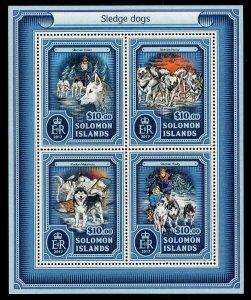 HERRICKSTAMP NEW ISSUES SOLOMON ISLANDS Sc.# 2270 Sled Dogs Sheetlet