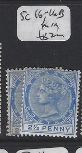 TOBAGO  (P2005B)  QV  2 1/2D  SG 16, 16B   MOG