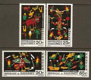 Dahomey #198-201 NH AbomeyTapestries