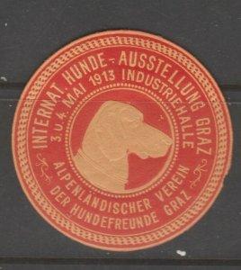 Cinderella revenue fiscal stamp 9-9-17 Austria Dog