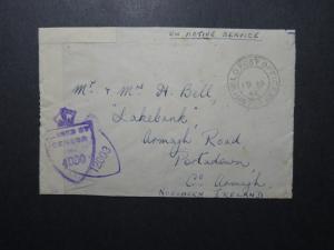 India 1944 Forces Cover / APO 390 Ranchi to N. Ireland - Z12384