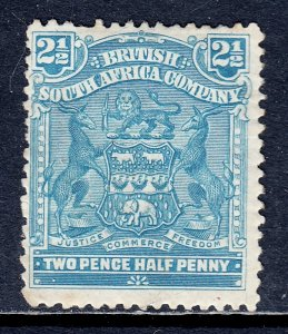 Rhodesia - Scott #62 - MH - 2 small thins, pulled perf, toning spot - SCV $16