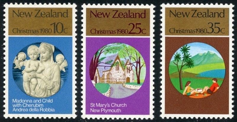 New Zealand Scott 715-17 MVFNHOG - 1980 Christmas - SCV $0.95